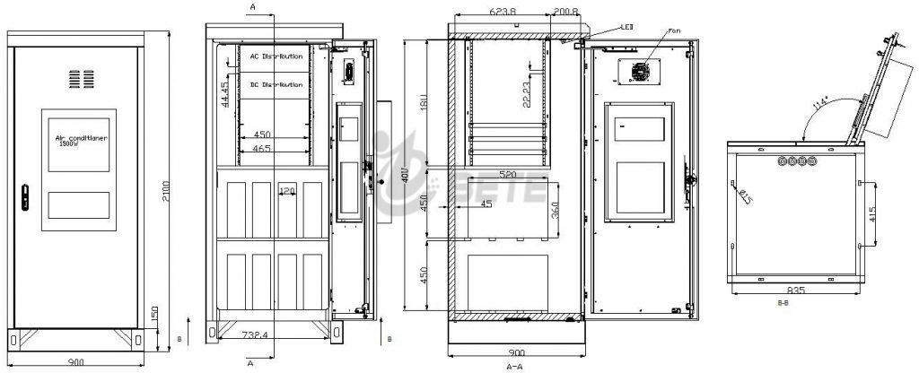 BT909021001PW Outdoor Telecom Cabinet Drawing