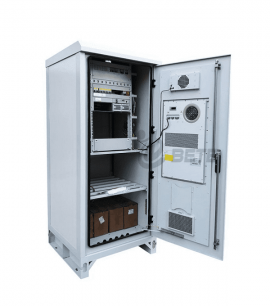 19″ Rack 1500W Air Conditioner Outdoor Telecom Cabinet Floor mounted Batteries And Equipments