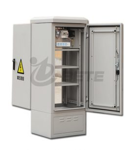 IP55 One Compartment Galvanized Steel Outdoor Optical Fiber Cabinet With Front And Back Doors