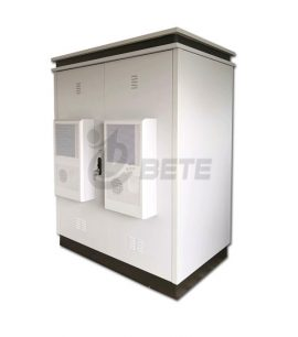 2000×1600×800mm Two Compartments 1500W Air Conditioners Outdoor Telecom Cabinet With Double Wall Galvanized Steel