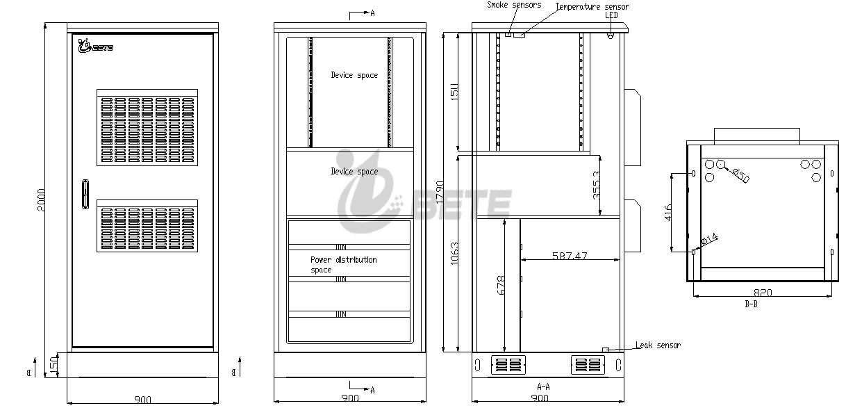 IP55 Outdoor Monitoring Cabinet