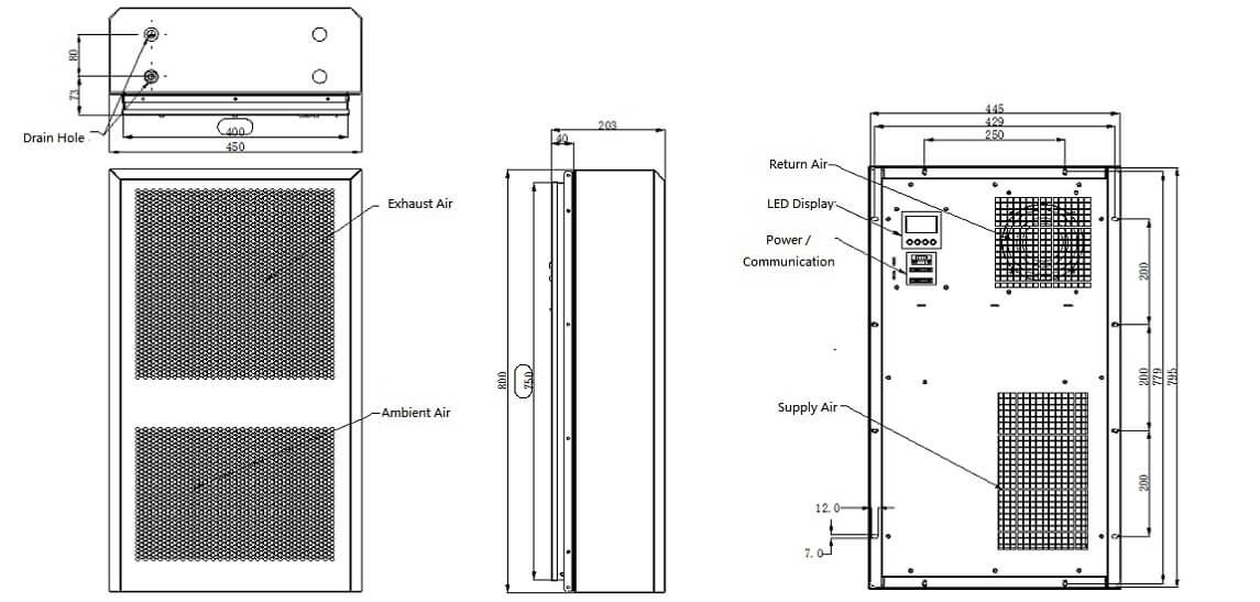 Industrial Equipment 1500W dimensions