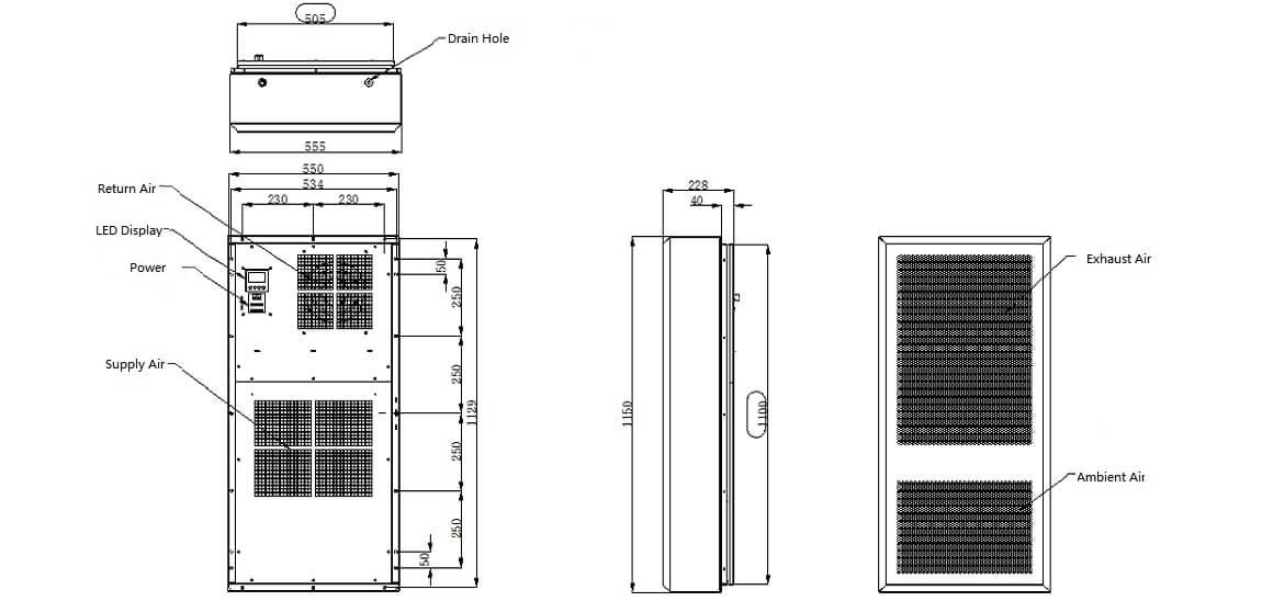 BTA3000LT-A 3000W Air Conditioner For Industrial Equipment Solar Power