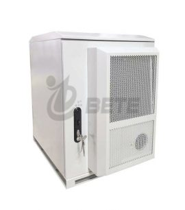 Galvanized Steel Double Wall 18U Outdoor Communication Cabinet With Air Conditioner Cooling