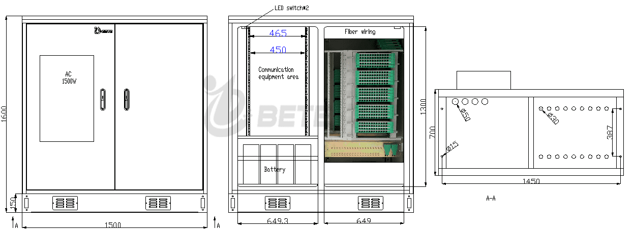 Outdoor Optical Fiber Cabinet with Air Conditioner