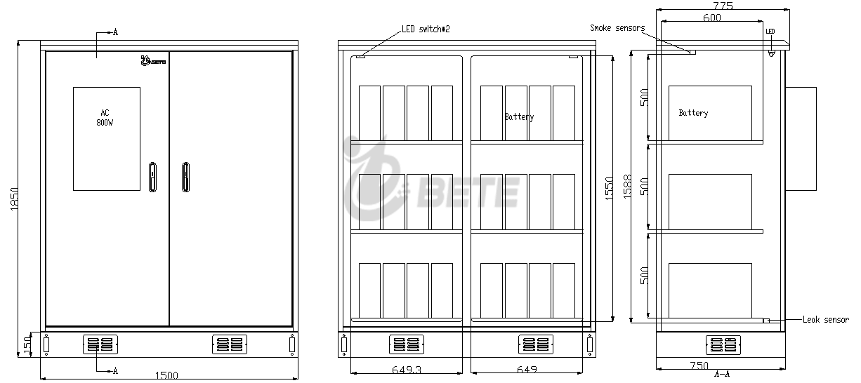 BT1507518501BT Outdoor Battery Cabinet Drawing