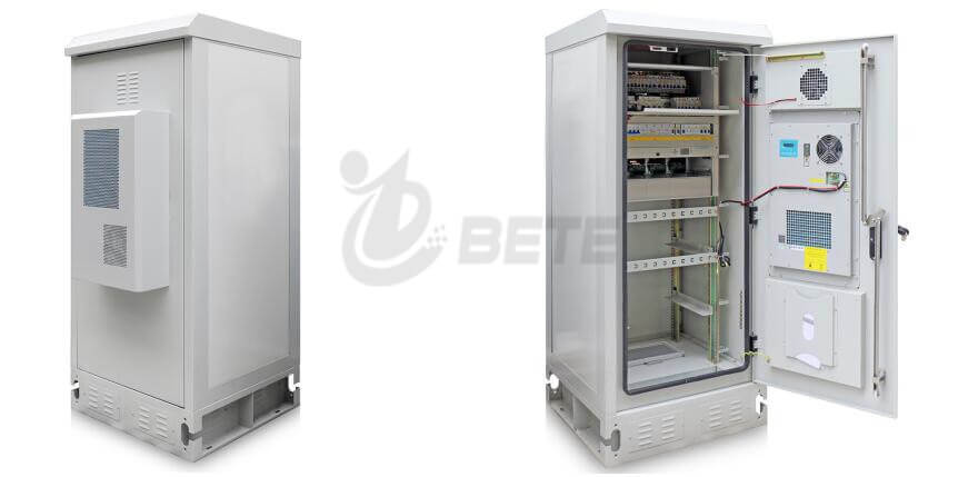 2000 x 900 x 900mm outdoor telecommunications battery cabinet, 500W air-conditioned street cabinet