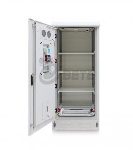 IP55 Whetherproof outdoor cabinet Galvanized Steel Battery Cabinet 4 Battery Shelves