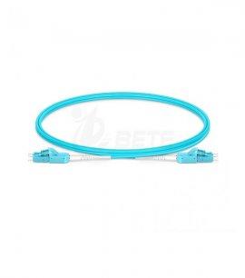 1m (3ft) LC UPC to LC UPC Uniboot Duplex OM4 Multimode PVC (OFNR) 2.0mm BIF Fiber Optic Patch Cable