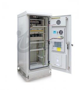 Outdoor Telecommunication Battery Cabinet 500W Air-conditioned Street Cabinet