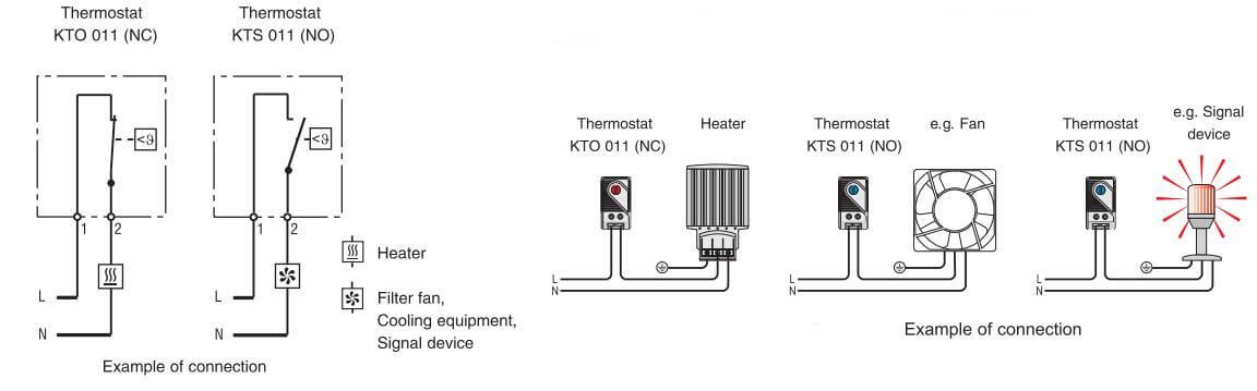 BTKTO 011 Small Compact Thermostat dimensions