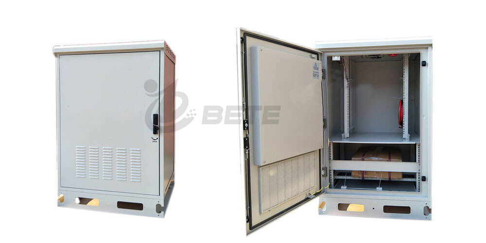19 inch Rack Outdoor Telecommunications Cabinet 1.3m Power Battery Cabinet With Ventilation Fan SNMP Monitoring