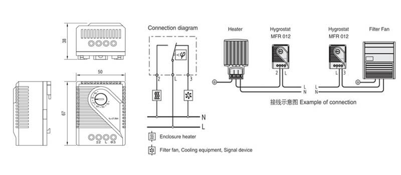 Thermostat Mechanical Humidity Controller