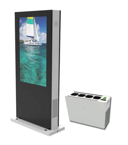 AC220V 1500W Cooling Capacity Kiosk Air Conditioner For Advertising Machine Cooling