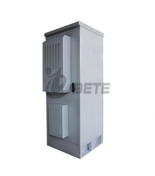 IP55 Galvanized Steel Air Conditioner Cooling Cabinet Outdoor Telecom Enclosure Including 19 Inch Rack And Battery Shelves-3