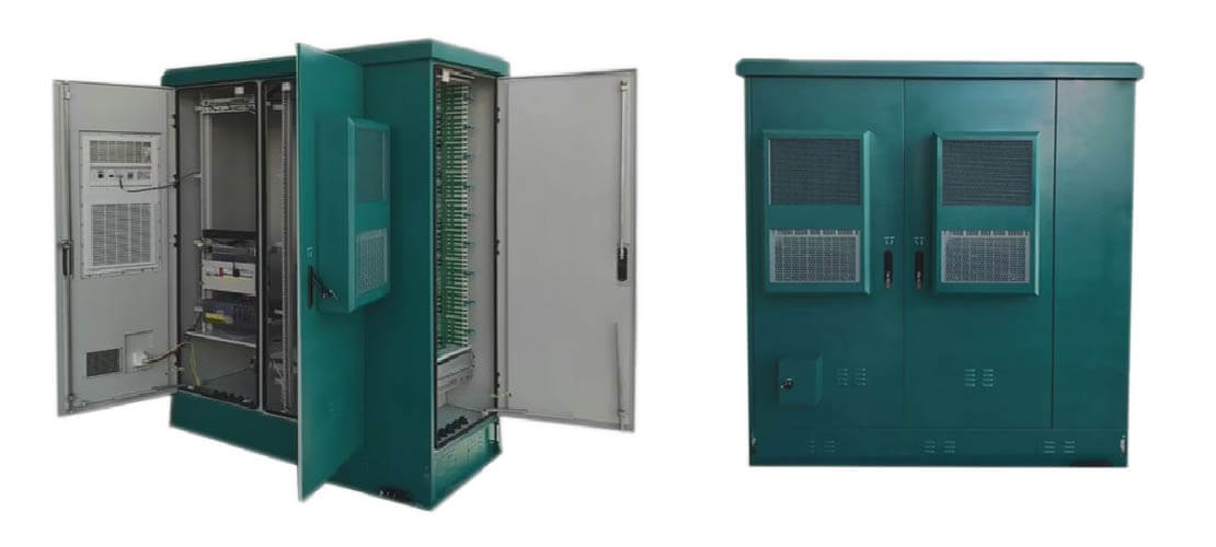 Outdoor-Base-Station-Green-Color-With-Fiber-Distribution