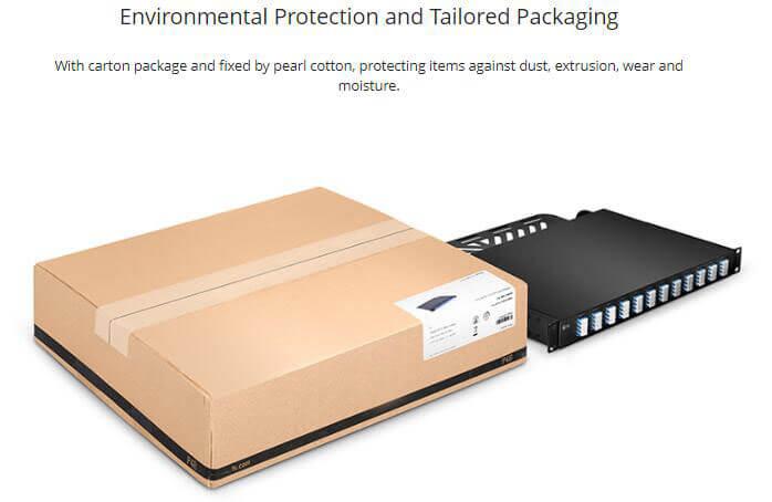 1U Breakout Patch Panel Single Mode Flat 40G/100G to 10G/25G
