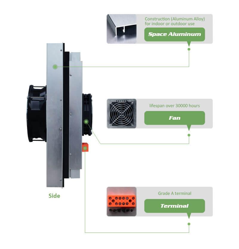 Peltier Semiconductor Air Conditioner IP55 200W Outdoor Conditioner