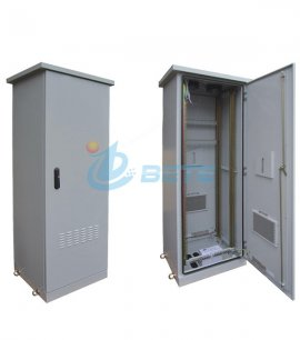 42U Outdoor Network Cabinet Galvanized Steel Double Wall Cabinet