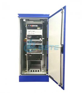 42U Racked Mounted Outdoor Equipment Cabinet Galvanized Steel Power Supply Cabinet