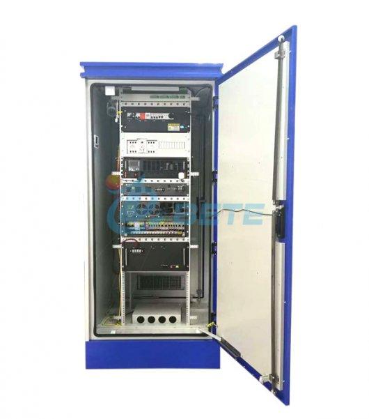 42U Racked Mounted Outdoor Equipment Cabinet Galvanized Steel Power Supply Cabinet