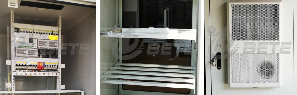 Double Bays Outdoor Electrical Enclosure IP55 Two Doors Outdoor Telecom Cabinet