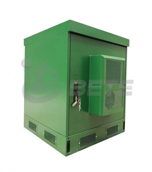 Outdoor Network Enclosure 19 Inch Rack Cabinet Cooling System IP65