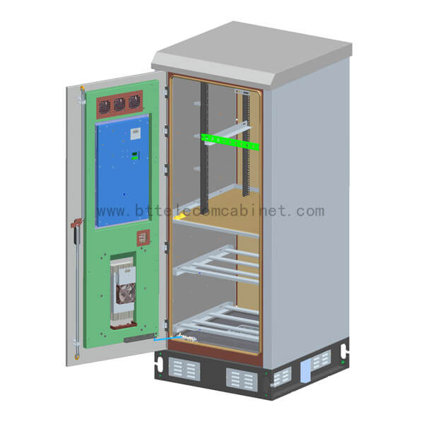 Outdoor cabinet refers to the equipment directly under the influence of natural climate, which is made of metal or nonmetal materials, does not allow unauthorized operators to enter the operating cabinet, and provides outdoor physical working environment and safety system for wireless communication stations or wired network stations.