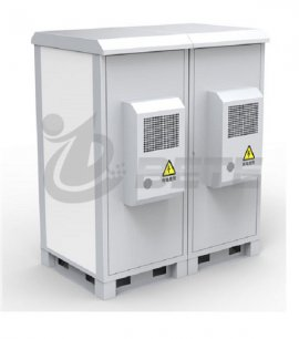 Double Bays Outdoor Electrical Enclosure IP55 Two Doors Outdoor Telecom Cabinet
