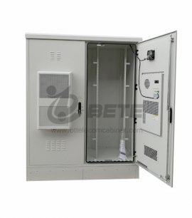 DC Air Conditioner Cooling Outdoor Telecom Shelter 19 Inch Rack And Battery Shelves