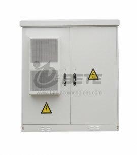 33U Outdoor Telecom Shelter DC Air Conditioner 19 Inch Rack And Battery Shelves