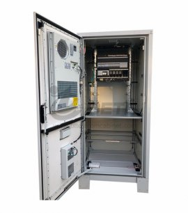 100AH Outdoor Battery Cabinet Galvanized Steel Air Conditioner Cooling Battery Storage