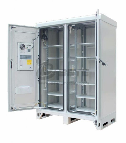 1000W Air Conditioner Two Compartments Outdoor Battery Cabinet Galvanized Steel